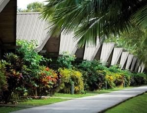 Beautiful gardens at Hamilton Island's Palm Bungalows