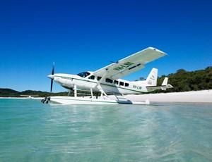 Hamilton Island Air Seaplane at Whitehaven Beach
