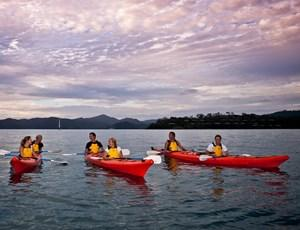 Sunset kayak paddle on Hamilton Island