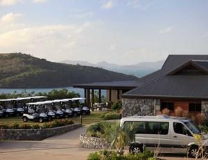 Clubhouse and golf carts, Hamilton Island