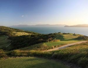 Sunset over the Hamilton Island golf course