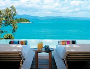 Day beds with a view at qualia