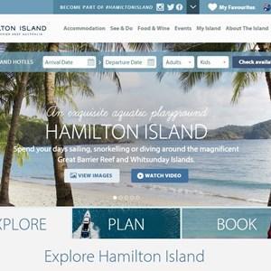 Plan your romantic gateway or simply a luxury beach vacation on Hamilton Island Website