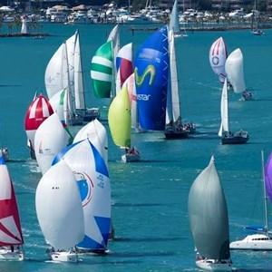 Colourful yachts at Race Week on Hamilton Island
