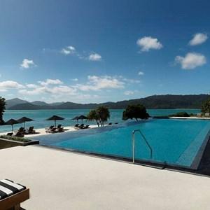 Luxurious Hamilton Island resort Pebble beach's pool