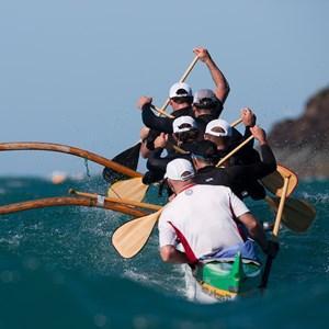 Kayakers at Clash of the paddles on Hamilton Island