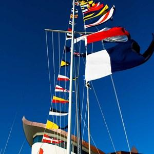Hamilton Island's Yacht Club flag pole