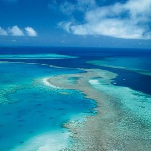 Sky shot of the Great Barrier Reef