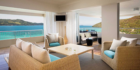 Luxurious Whitsunday Islands vacation - one bedroom terrace suite at the Reef View Hotel