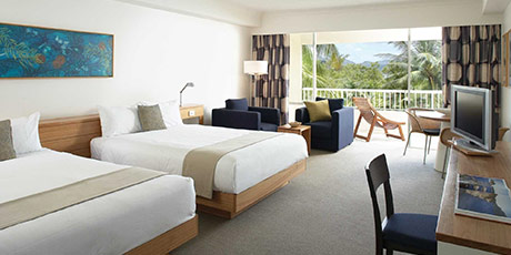 Tropic garden view room at the Reef View Hotel, Hamilton Island