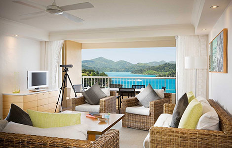 Waterfront two bedroom terrace suite at the Reef View Hotel, Queensland