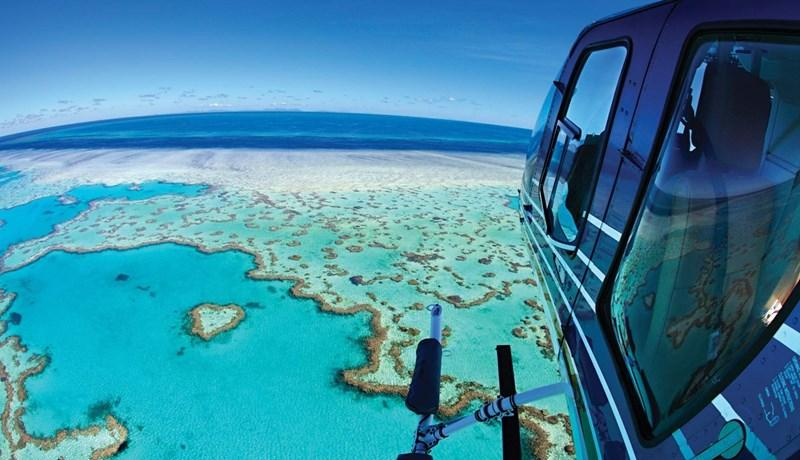 Helicopter tour of the Great Barrier Reef