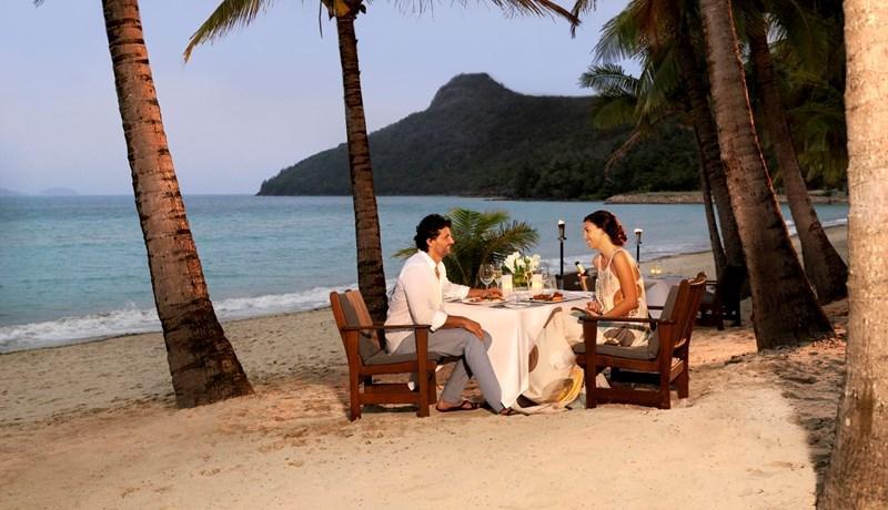Dinner on the sand at Beach Club restaurant