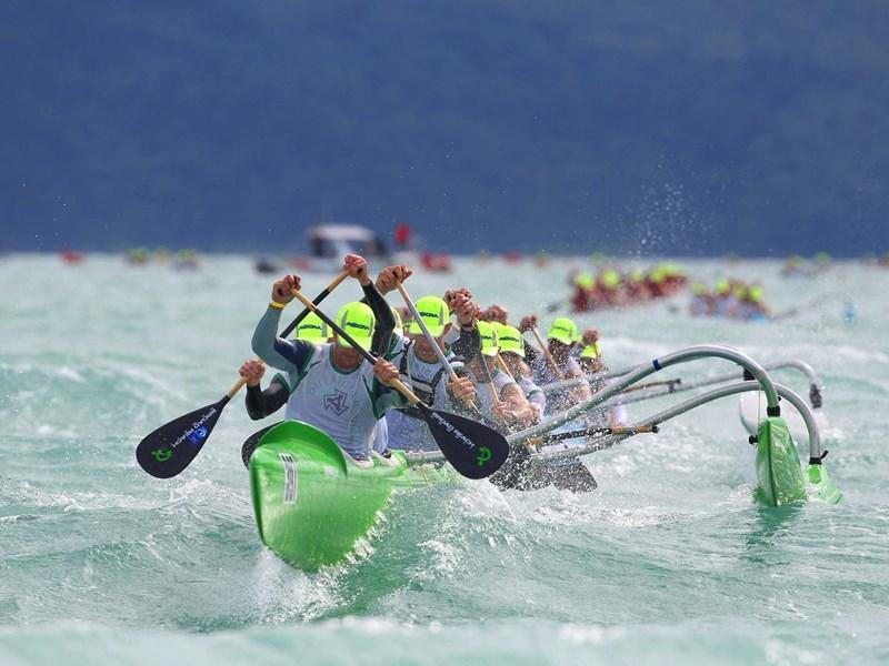 Clash of the paddles competitors on Hamilton Island