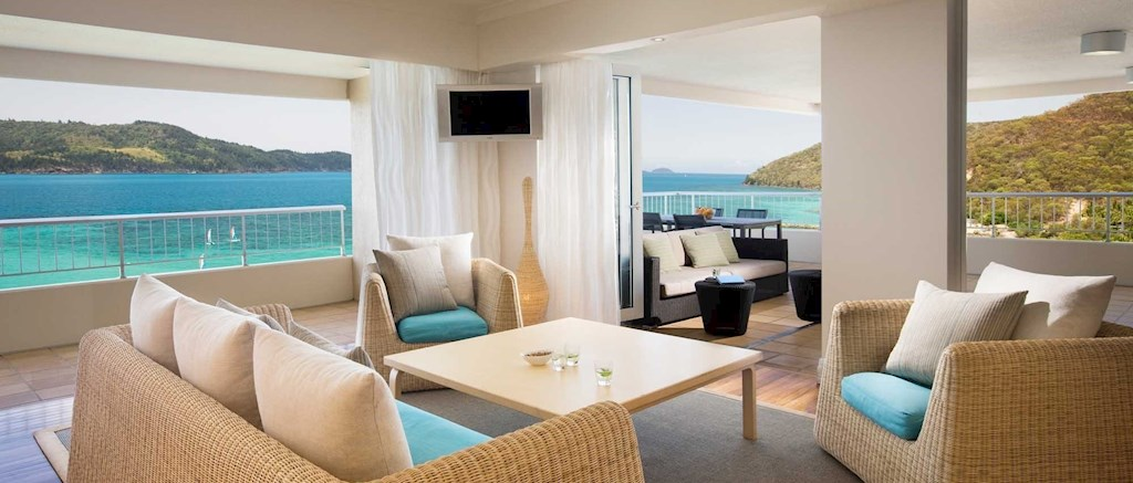 Luxurious Whitsunday Islands vacation   one bedroom terrace suite at the  Reef View Hotel. Reef View Hotel  1 Bedroom Terrace Suite   Hamilton Island