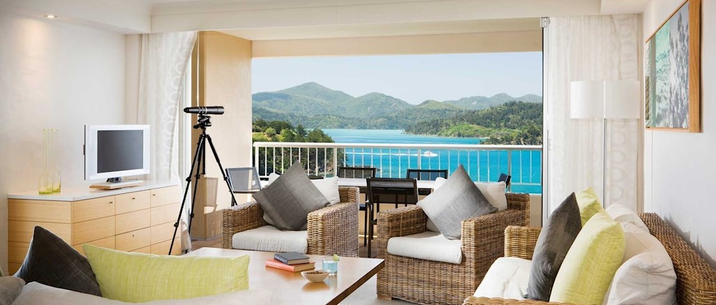 Relax in comfort and style Two Bedroom Terrace Suite. Reef View Hotel  2 Bedroom Terrace Suite   Hamilton Island