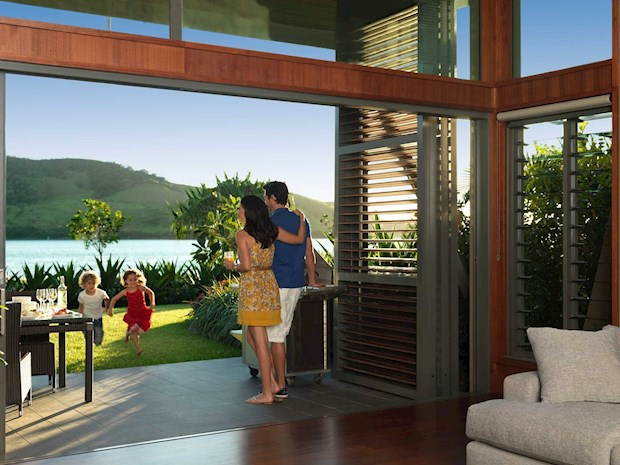 Beach family vacation at the Yacht Club Villas on Hamilton Island
