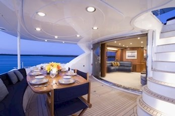 Romantic dinner on luxurious yacht deck by Alani Charters