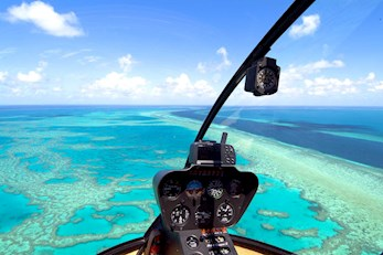 Helicopter flight over the beautiful Hamilton Island