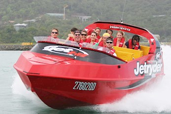 Exciting beach activities on Hamilton Island- group jet ski tour
