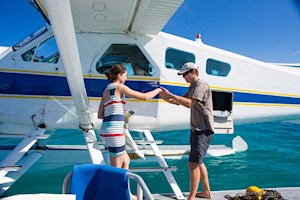 Seaplane excursion around the Hamilton Island
