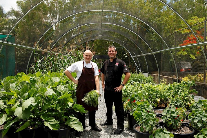 Hamilton Island's veggie garden provides quality produce for the island's Great Barrier Reef resort guests. Many Queensland hotels are now following suit.