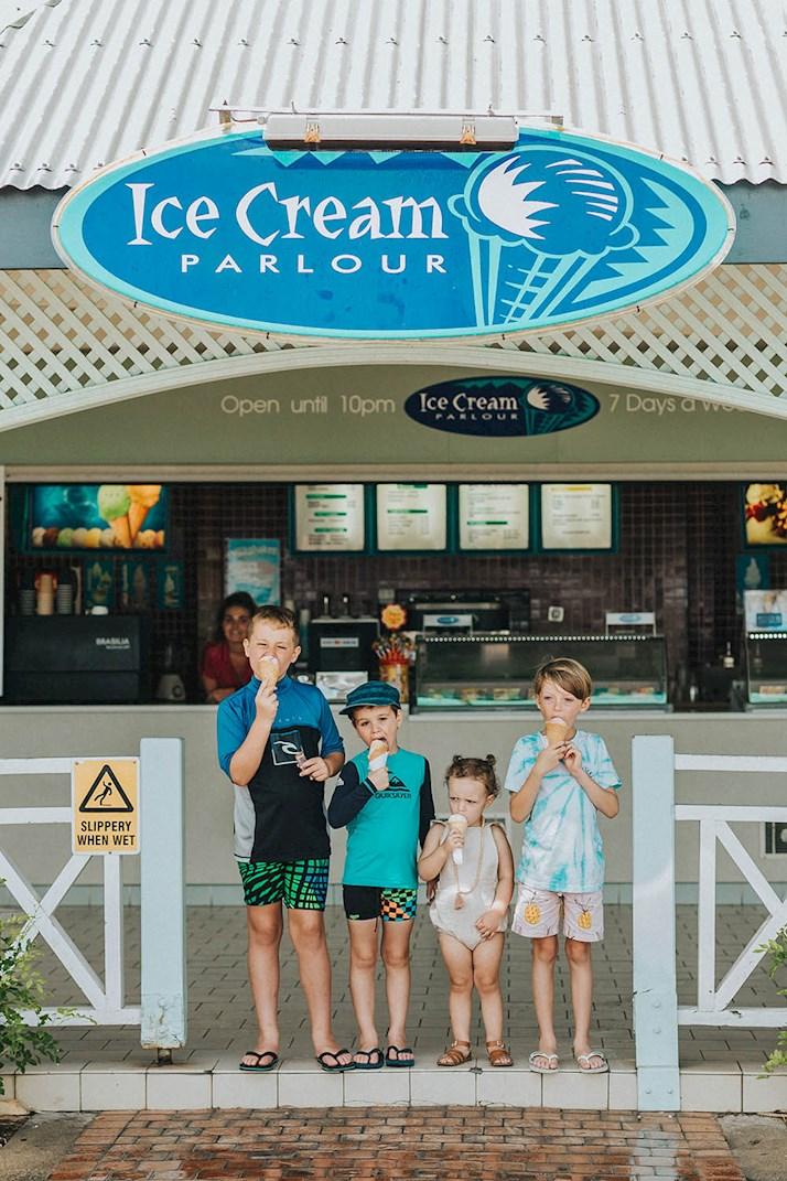 ice cream for kids at hamilton island