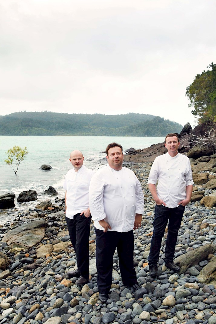 Executive Chefs at the Great Barrier Feast - Alastair Waddell, Peter Gilmore & Dan Hunter