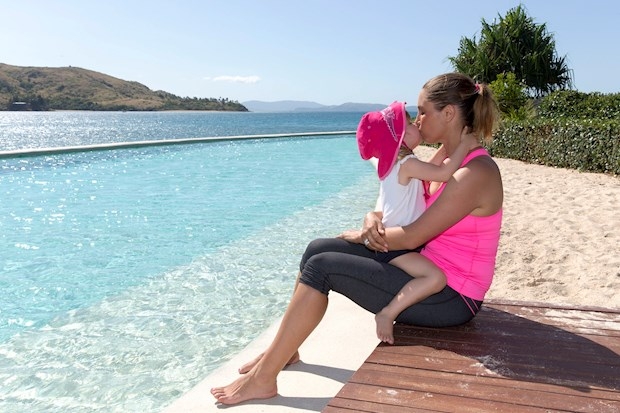 Lynette and her daughter enjoying Hamilton Island's family holiday packages
