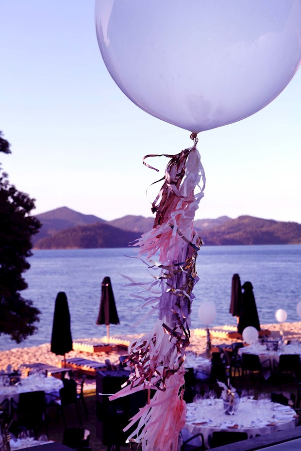 Festive Vogue Living Champagne Dinner on Hamilton Island beach resorts