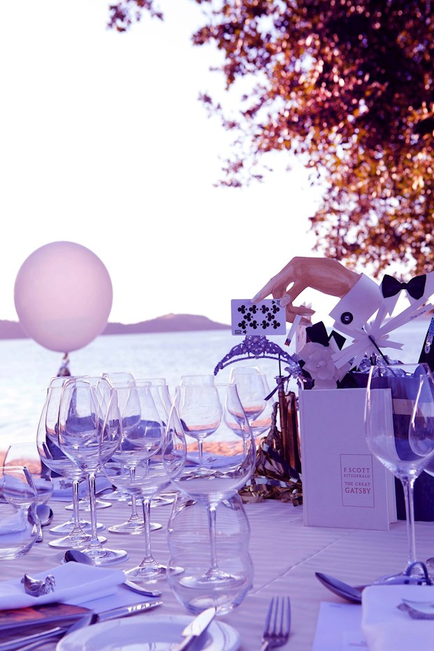 World Champagne Day celebration on Whitsunday Islands luxurious beach resorts