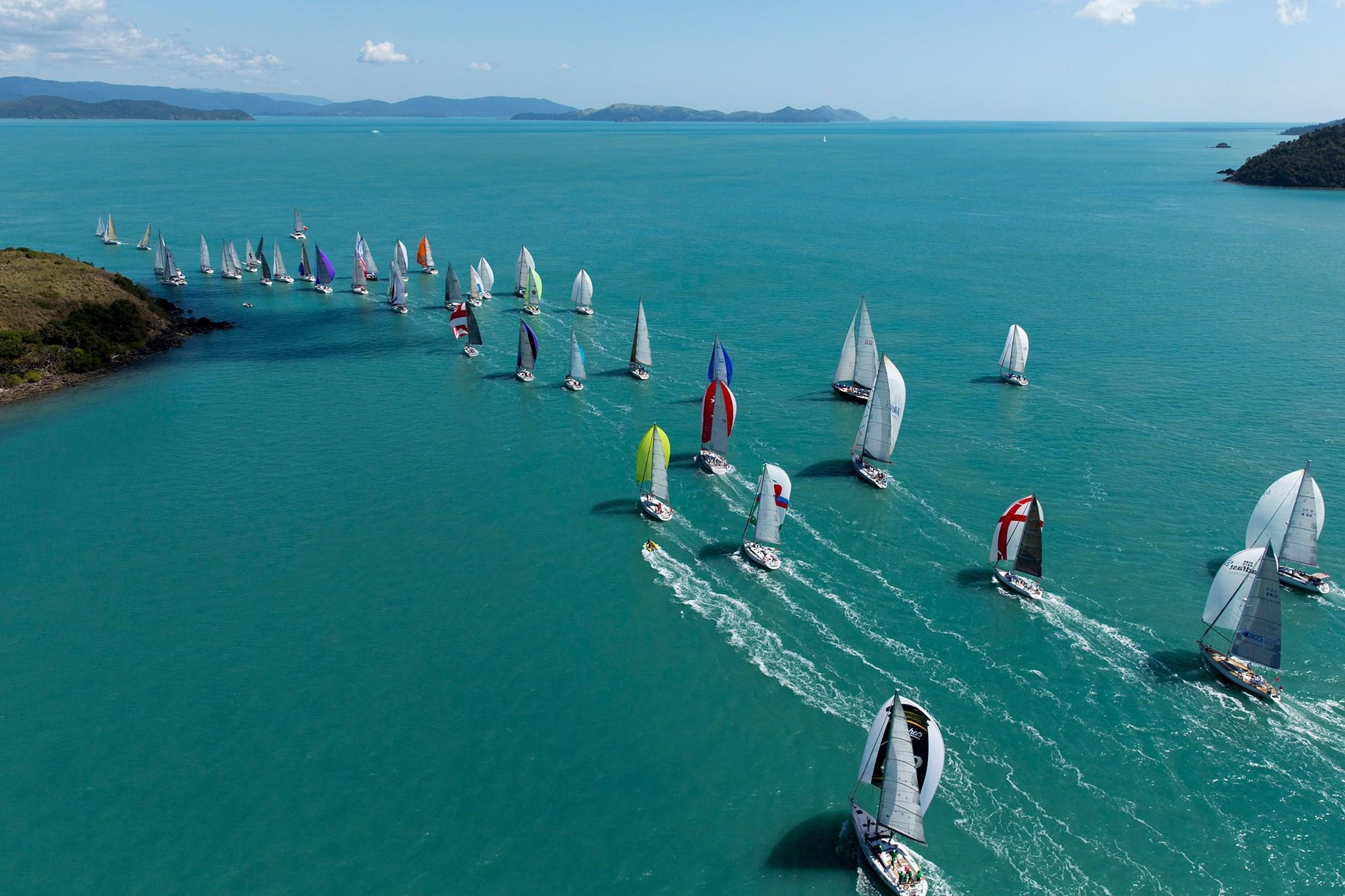 Yachts sailing at Audi Hamilton Island Race Week.