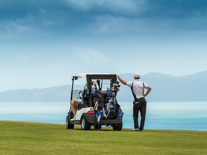 Golf carts on Hamilton Island