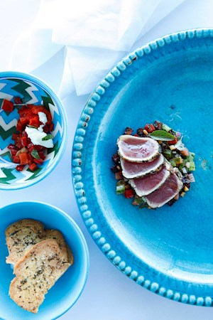 Mariners restaurant - Seared tuna with caponata, Hamilton Island