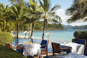 Luxury waterfront dining on Hamilton Island - one of the top world destinations for a tropical holiday