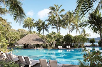 Beautiful pool of the luxurious Hamilton Island's hotels