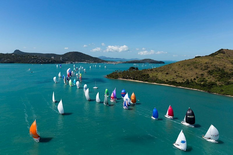 Colourful sailing fleet during Audi Hamilton Island Race Week
