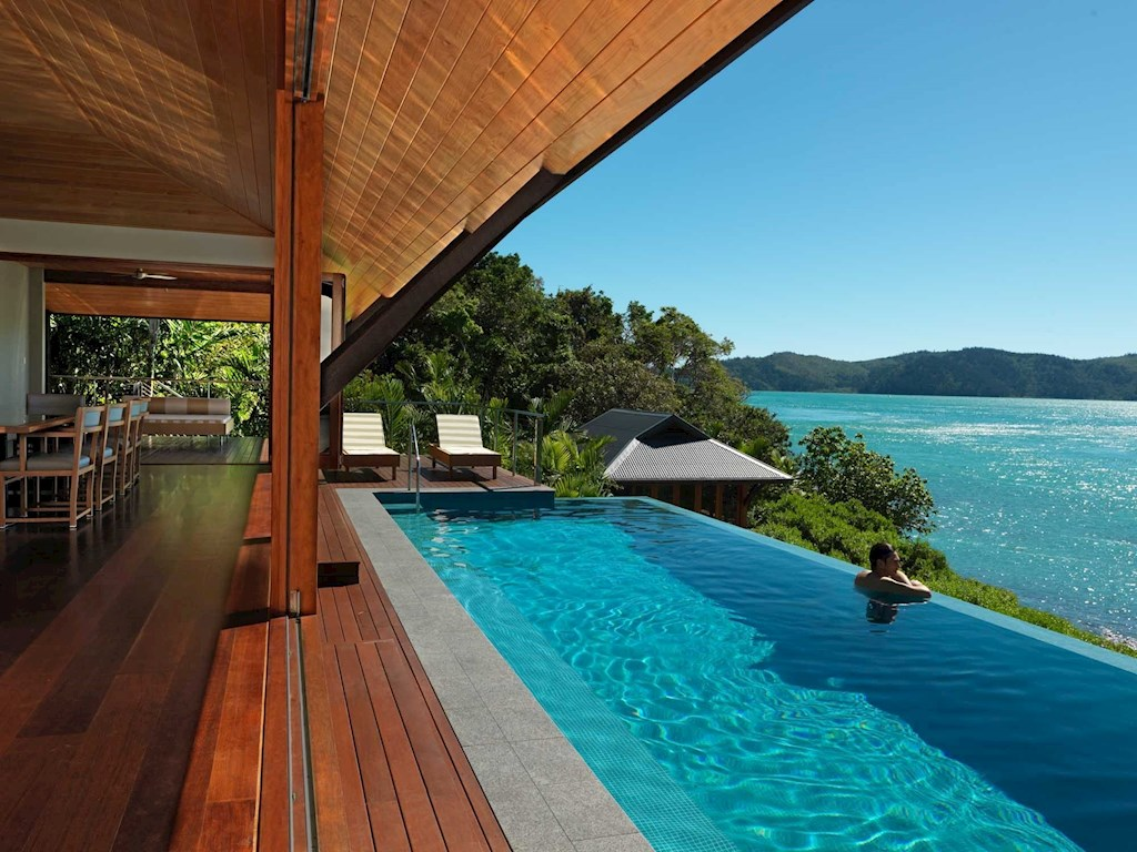 Luxury Beach House Dining Room And Lap Pool At Qualia Hamilton Island Perfect Destination