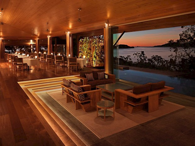 qualia's luxury pavilion at night - perfect spot for your romantic holidays