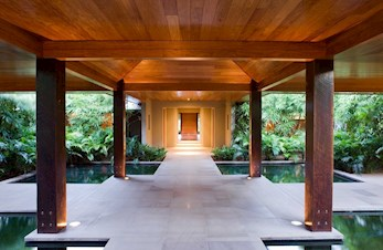 Entrance to a spa accommodation on qualia, Hamilton Island