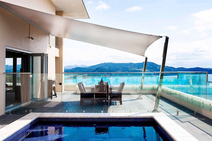 Pool at the Presidential Suite in the Reef View Hotel Hamilton Island