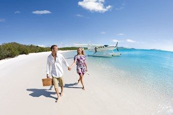 Discover Whitehaven Beach from the air with a seaplane tour from Hamilton Island