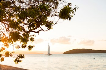 Sunset sailing from qualia - luxury resort Hamilton Island