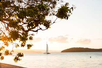Sunset sailing from qualia - luxury resort Hamilton Island