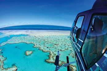 See the Whitsundays via a helicopter tour - romantic getaways Hamilton Island
