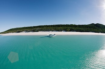 Explore Whitehaven Beach via seaplane - Hamilton Island honeymoon deals