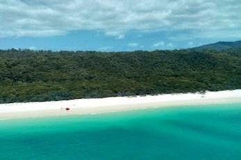 Take a helicopter tour of Whitehaven Beach - Hamilton Island romantic getaways