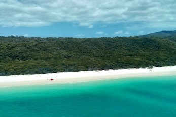 Take a helicopter tour of Whitehaven Beach - Hamilton Island romantic getaways