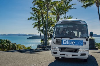 Free shuttle bus service around Hamilton Island