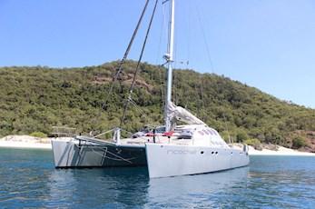 Luxury sailing around Hamilton Island on a catamaran